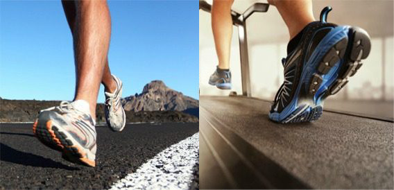 Running on a treadmill vs running outside